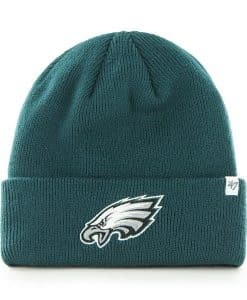 Philadelphia Eagles 47 Brand Pacific Green Raised Cuff Knit Hat
