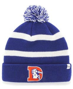 Denver Broncos 47 Brand Royal Blue Classic Breakaway Cuff Knit Hat