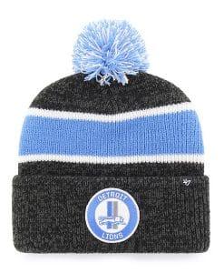 Detroit Lions 47 Brand Vintage Legacy Black Cuff Knit Hat