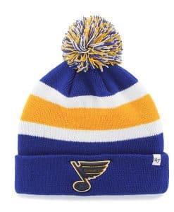 St. Louis Blues 47 Brand Royal Blue Breakaway Cuff Knit Hat