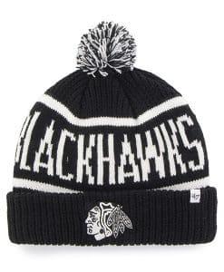 Chicago Blackhawks 47 Brand Black Calgary Cuff Knit Hat