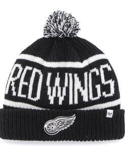 Detroit Red Wings 47 Brand Black Calgary Cuff Knit Hat