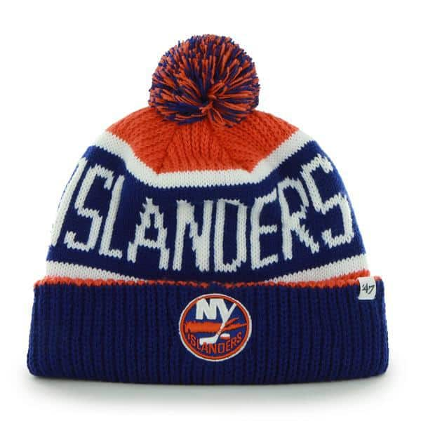 7c912652d96 New York Islanders Calgary Cuff Knit Orange 47 Brand Hat - Detroit ...