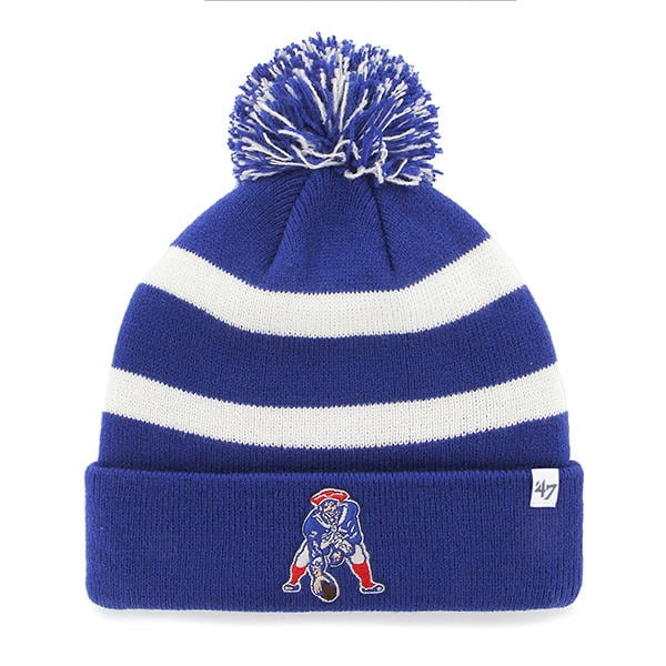 ... buy new england patriots 47 brand breakway blue cuff knit hat 3d5c9  87368 2e1a595ed
