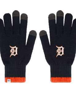 Detroit Tigers Baraka Touch Gloves Navy 47 Brand Womens