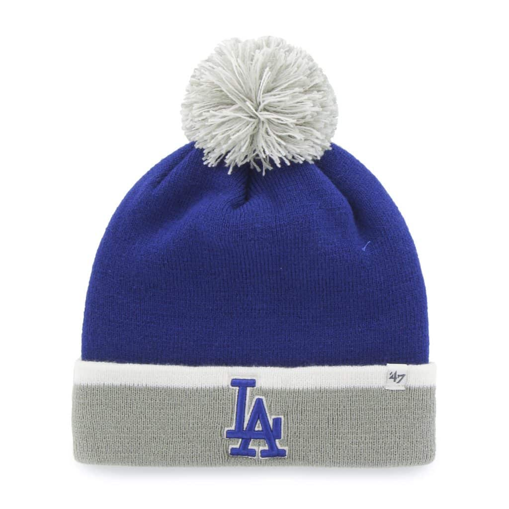 10a74db82ff Los Angeles Dodgers Baraka Two Tone Cuff Knit Royal 47 Brand Hat ...