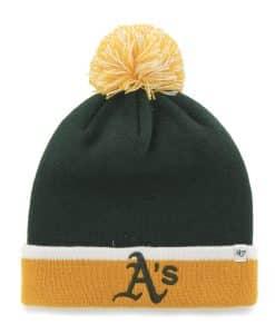 Oakland Athletics Baraka Two Tone Cuff Knit Dark Green 47 Brand Hat