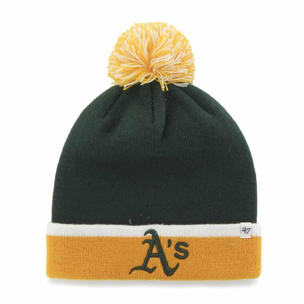 Oakland Athletics Baraka Two Tone Cuff Knit Dark Green 47 Brand Hat