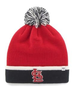 St. Louis Cardinals Baraka Two Tone Cuff Knit Red 47 Brand Hat