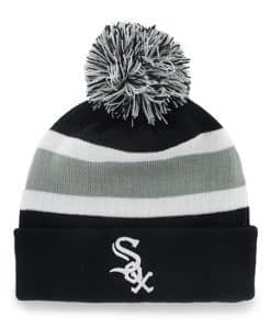Chicago White Sox Breakaway Cuff Knit Black 47 Brand Hat