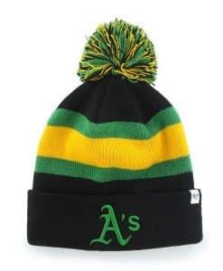 Oakland Athletics Breakaway Cuff Knit Black 47 Brand Hat