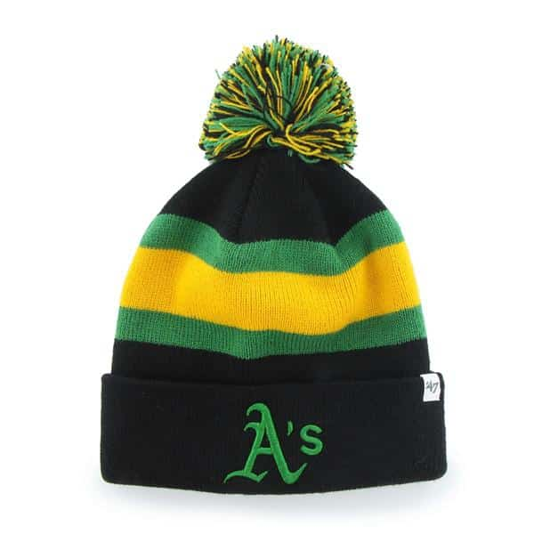 Oakland Athletics Breakaway Cuff Knit Black 47 Brand Hat