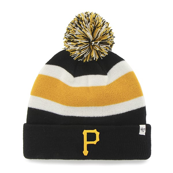 Pittsburgh Pirates Breakaway Cuff Knit Black 47 Brand Hat