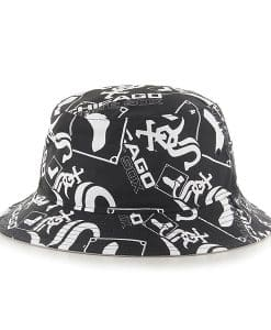 Chicago White Sox 47 Brand Black Bravado Bucket Hat