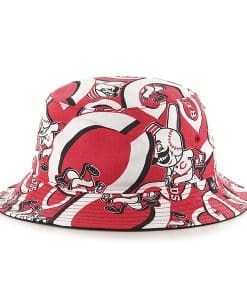 Cincinnati Reds 47 Brand Red Bravado Bucket Hat