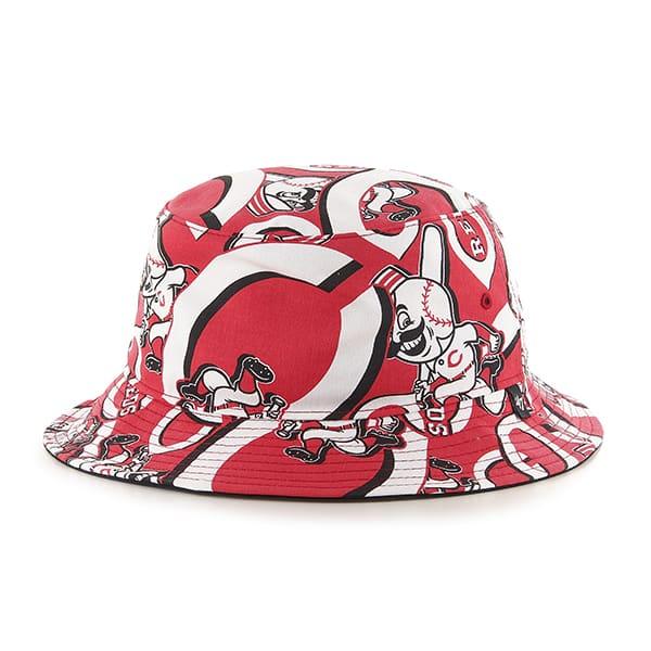 Cincinnati Reds 47 Brand Red Bravado Bucket Hat
