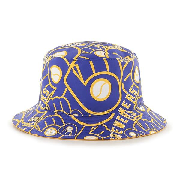 b9a24ac2 Milwaukee Brewers Bravado 47 Brand Bucket Hat - Detroit Game Gear