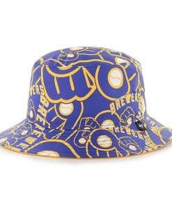 Milwaukee Brewers Bravado Bucket White 47 Brand Hat