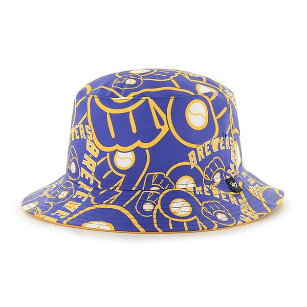 Milwaukee Brewers Bravado 47 Brand Bucket Hat