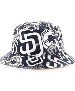 San Diego Padres Bravado Bucket White 47 Brand Hat