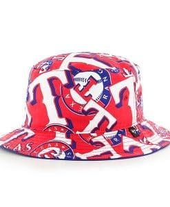 Texas Rangers Bravado Bucket White 47 Brand Hat