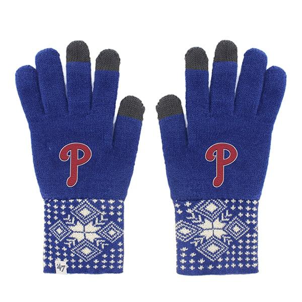 Philadelphia Phillies Camden Gloves Royal 47 Brand Womens