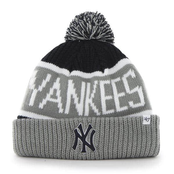 b57d75b4416 ... pom one size bc84d c0754  discount new york yankees calgary cuff knit  navy 47 brand hat 41f39 f0ad2