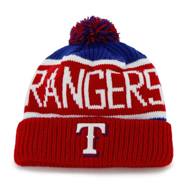 Texas Rangers Calgary Cuff Knit Royal 47 Brand Hat