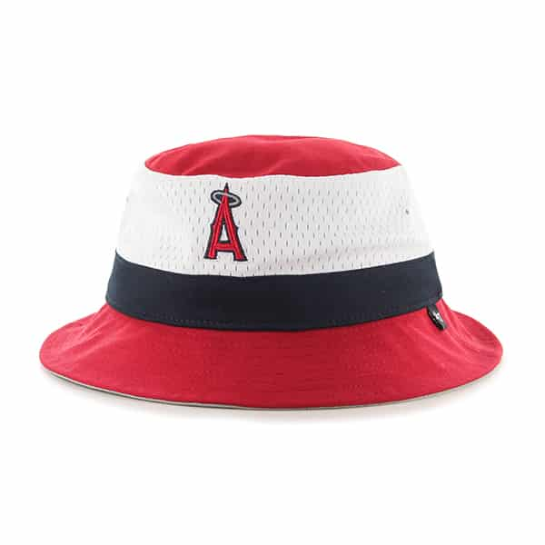 Los Angeles Angels Double Line Bucket Red 47 Brand Hat