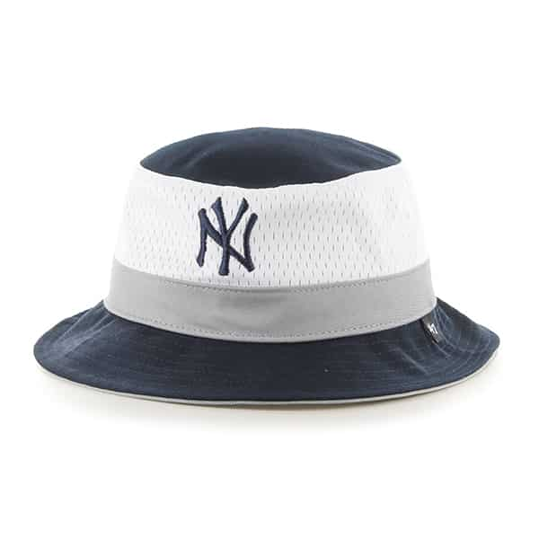New York Yankees Double Line Bucket Navy 47 Brand Hat