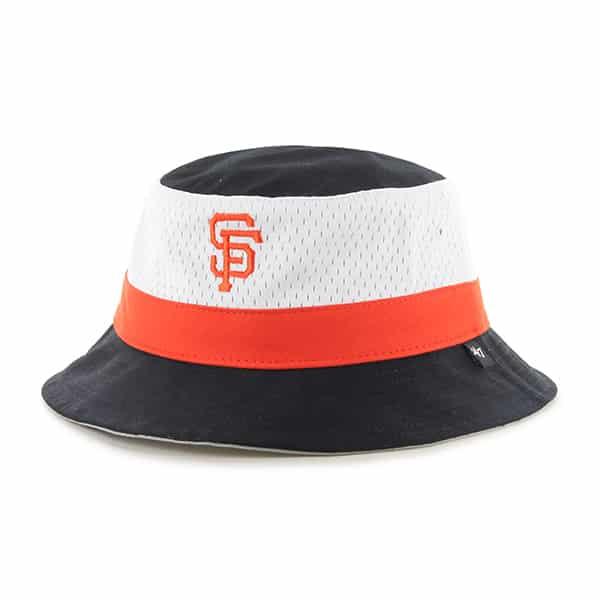San Francisco Giants Double Line Bucket Black 47 Brand Hat