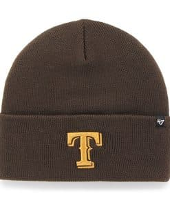 Texas Rangers Haymaker Cuff Knit Brown 47 Brand Hat