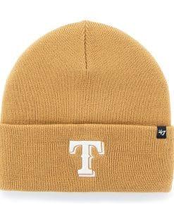 Texas Rangers Haymaker Cuff Knit Wheat 47 Brand Hat