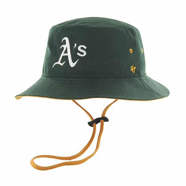 Oakland Athletics Kirby Bucket Dark Green 47 Brand Hat