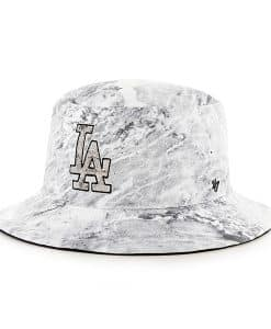 Los Angeles Dodgers Knuckle Down Bucket White 47 Brand Hat
