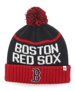 Boston Red Sox Linesman Cuff Knit Navy 47 Brand Hat