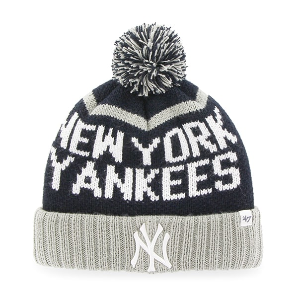New York Yankees Linesman Cuff Knit Navy 47 Brand Hat - Detroit Game ... eb68d0417249