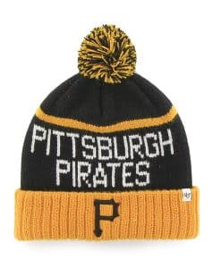 Pittsburgh Pirates Linesman Cuff Knit Black 47 Brand Hat