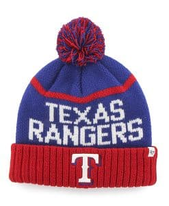 Texas Rangers Linesman Cuff Knit Royal 47 Brand Hat