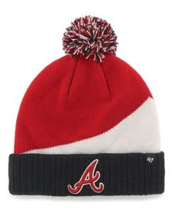 Atlanta Braves Rockhead Cuff Knit Red 47 Brand Hat