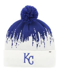 47cbc86a0cb396 Kansas City Royals Riser Cuff Knit Royal 47 Brand Hat