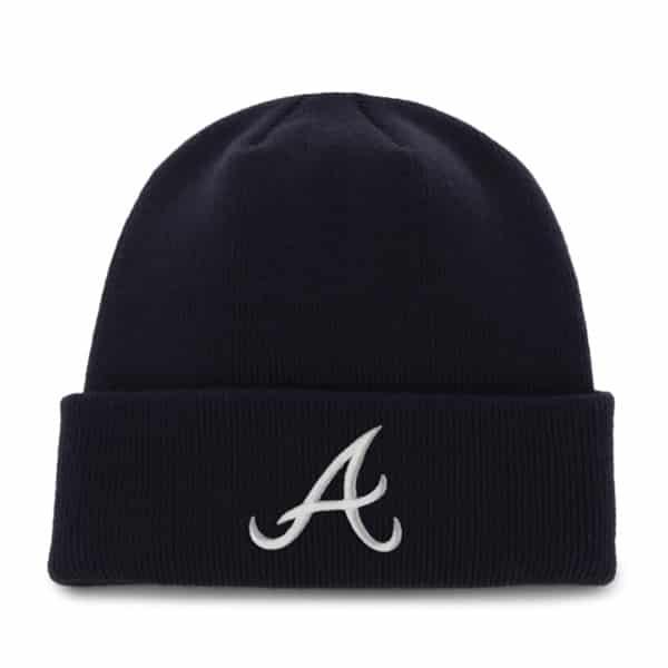 Atlanta Braves Raised Cuff Knit Navy 47 Brand Hat