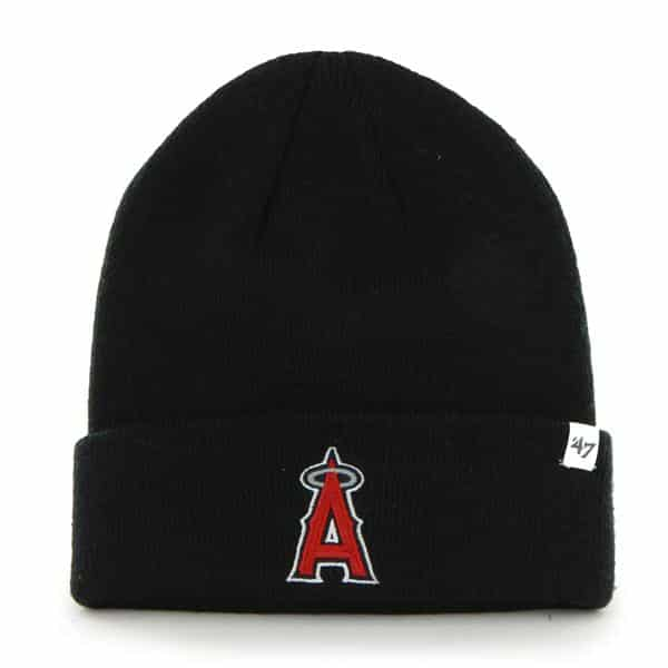 Los Angeles Angels Raised Cuff Knit Black 47 Brand Hat