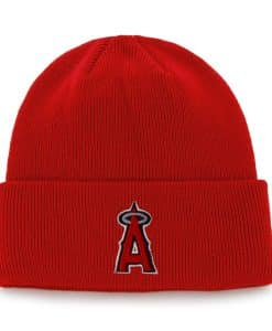 Los Angeles Angels Raised Cuff Knit Red 47 Brand Hat