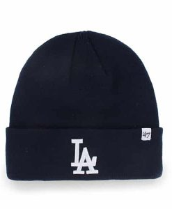Los Angeles Dodgers Raised Cuff Knit Navy 47 Brand Hat