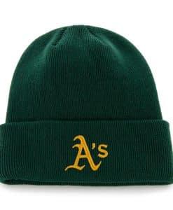 Oakland Athletics Raised Cuff Knit Dark Green 47 Brand Hat