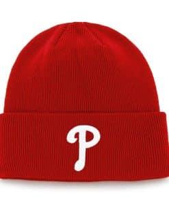 Philadelphia Phillies Raised Cuff Knit Red 47 Brand Hat