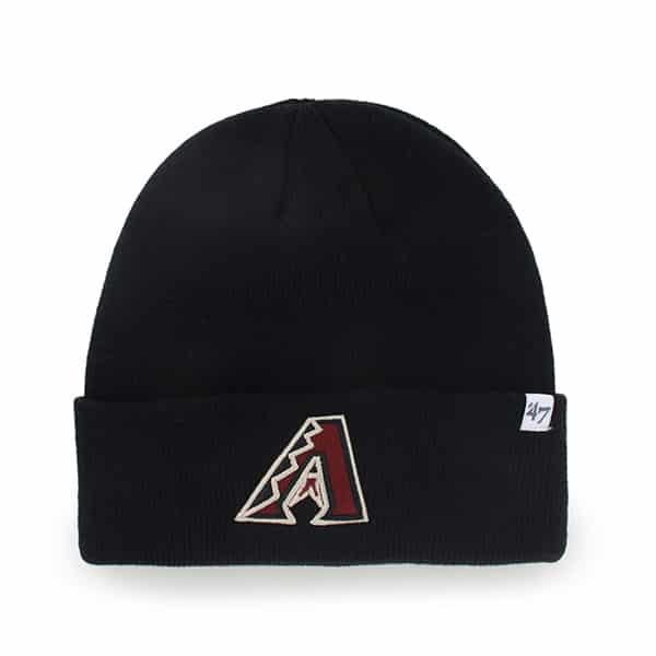 Arizona Diamondbacks Raised Cuff Knit Black 47 Brand Hat