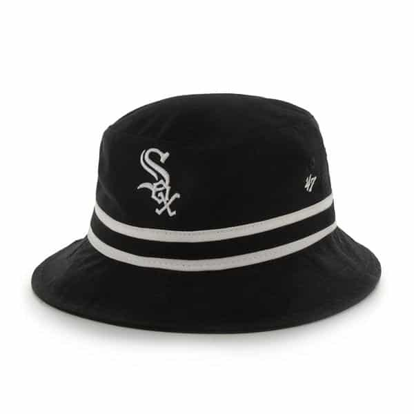 Chicago White Sox Striped Bucket Bright Black 47 Brand Hat