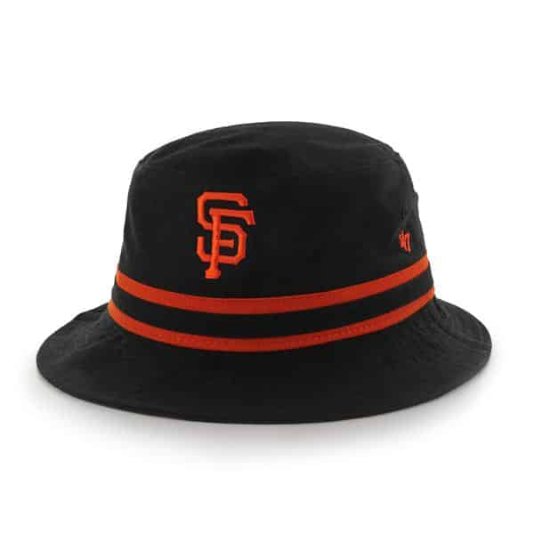 San Francisco Giants Striped Bucket Bright Black 47 Brand Hat